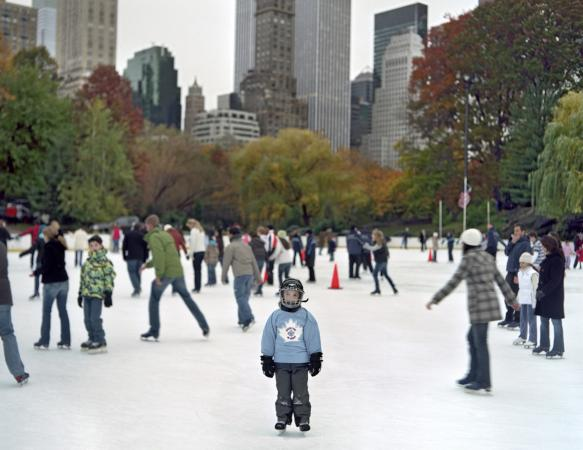 Ice Skating, New York, 2007.