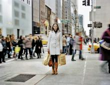 Shopping,  Fifth Avenue, New York, 2011.