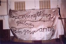 White Banner II (I hope everything you love dies in your arms),2004.
